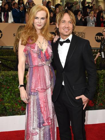 Nicole Kidman and country music star Keith Urban at the 22nd Annual Screen Actors Guild Awards. Picture: AFP/Mark Ralston