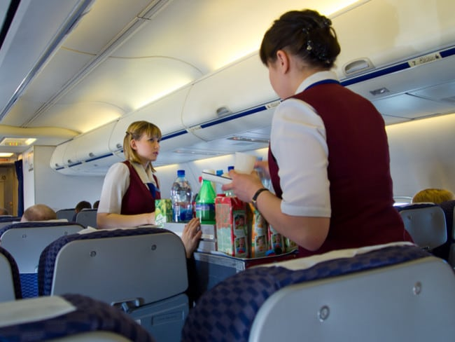 Flight attendants could serve three drinks in the time it takes them to serve one Diet Coke.
