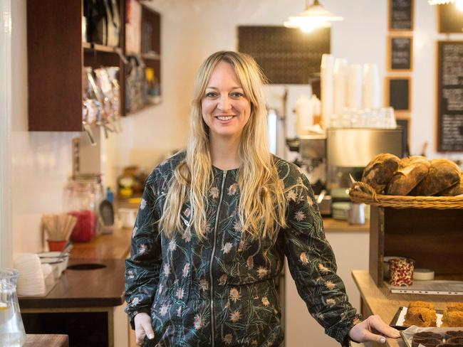 Baker Claire Ptak inside her bakery, Violet, in east London. Picture: Victoria Jones/AFP