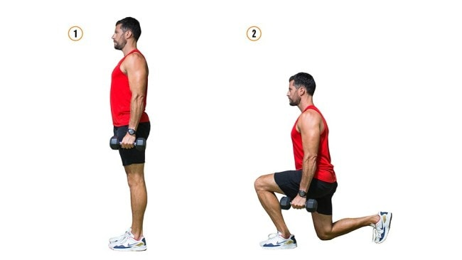 Alternating lunges