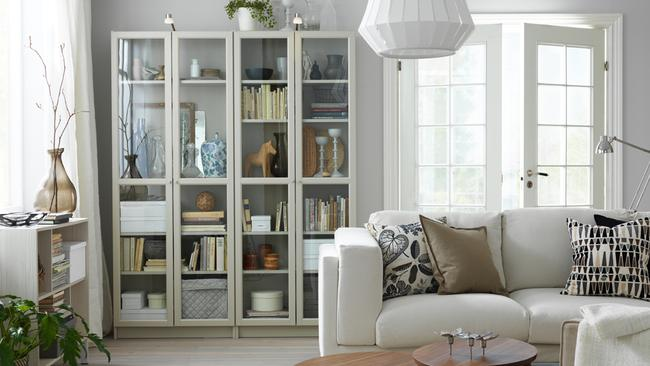 Ikea Billy Bookcases Come With Glass Doors As An Option.