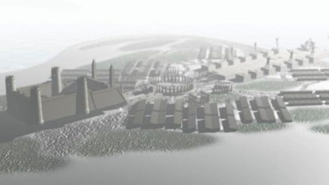 This is what the island was believed to look like. Picture: Science Channel