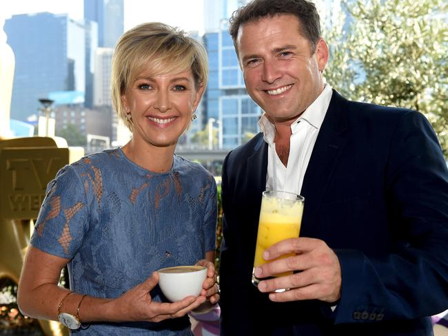 Deb Knight and Karl Stefanovic hosted Today this week. Picture: Kylie Else
