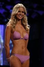 <p>Australian Renae Ayris poses in swim wear before she is crowned Miss Universe Australia 2012 in Melbourne on June 8, 2012. Thirty-three finalists competed for the crown with winner Renae Ayris going on to represent Australia in the final. AFP PHOTO</p>