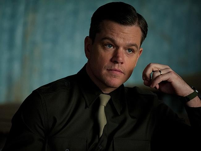 New film ... Matt Damon (who plays James grainier) in a scene from film The Monuments Men. Picture: Supplied