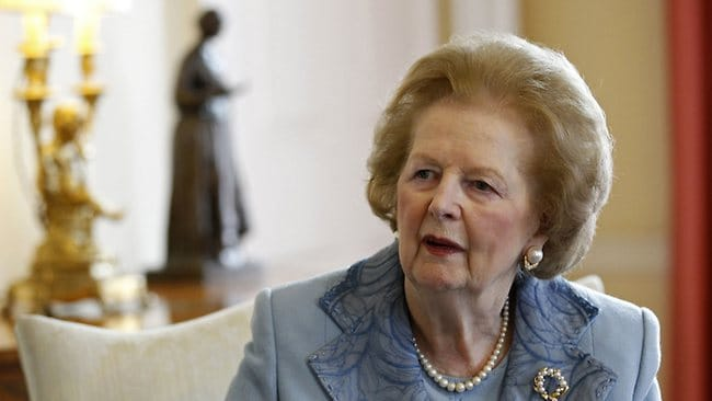 Former British prime minister Baroness Margaret Thatcher, pictured in 2010, has died at the age of 87 following a stroke. Picture: AFP