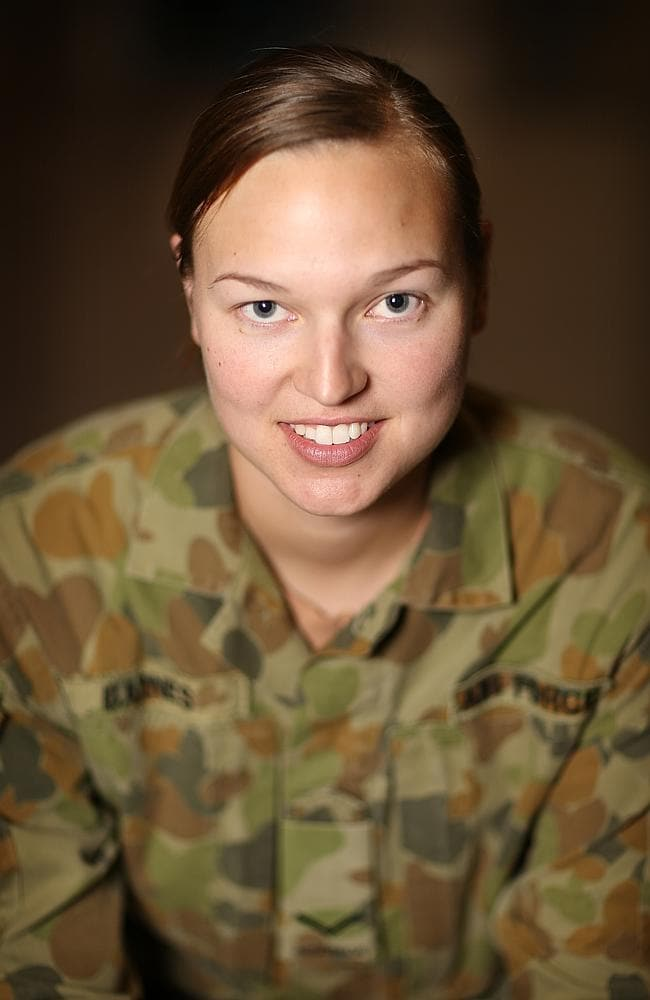 """Men less catty than women"" ... Royal Australian Airforce Leading Aircraft Women Kylie Barnes in Kandahar in souther"