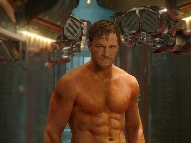 Chris Pratt physically transformed himself for his role in  <i>Guardians Of The Galaxy</i>. Picture: AP