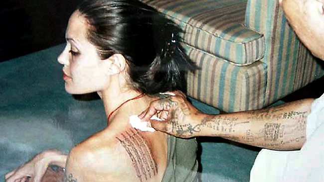 Tattoo fans, such as Angelina Jolie, could face a higher risk of cancer, according to new research. Picture: Supplied