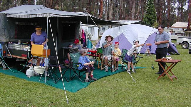 Lake Eildon is perfect for camping with a family.