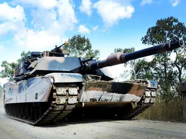 Tanks will roam central Queensland by 2021. Picture: Zak Simmonds