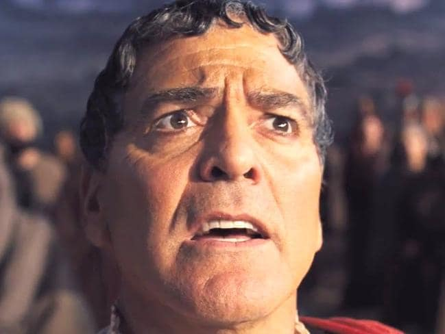 Even with this haircut in Hail, Caesar!, Clooney is a honey.
