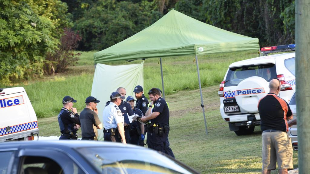 Police at the scene where the bodies were found. Picture: Susan Kelly / Caters News