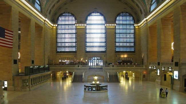 Grand Central Terminal in New York was deserted after train services were suspended due to Hurricane Irene. Picture: Marjorie Anders / NY Metropolitan Transportation Authority