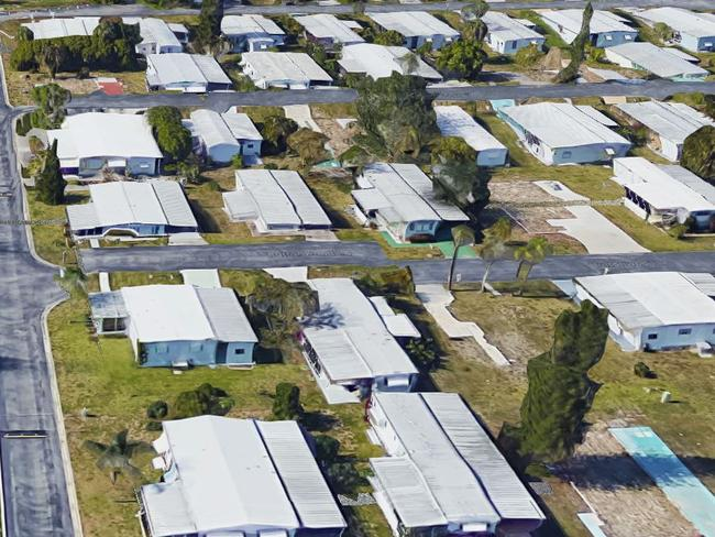 The Naples Esates mobile home before it was devastated. Picture: Google Maps