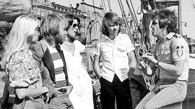Swede love: Molly Meldrum interviews ABBA in Stockholm in 1976. Picture: News Corp Australia