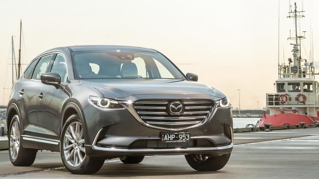 Mazda CX-9 Azami: $64,790 before on-roads, with 2.5-litre turbo and all-wheel drive.