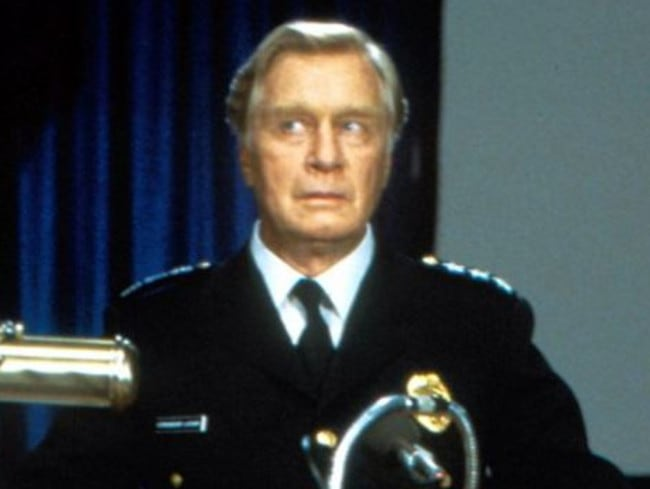 Funny ... George Gaynes, who starred in seven Police Academy movies, has died. Picture: Supplied