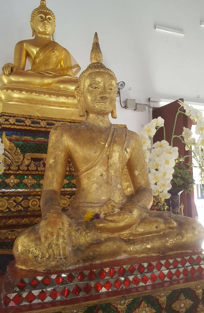 "The so-called ""Black Buddha"" in Bangkok the couple were taken to. Picture: Dan Boland"