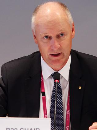 """The number one thing people worry about is jobs"" ... Wesfarmers head Richard Goyder. Picture: Sam Mooy"