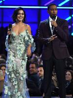 Co-hosts Vanessa Hudgens and Ludacris speak onstage during the 2017 Billboard Music Awards at T-Mobile Arena on May 21, 2017 in Las Vegas, Nevada. Picture: Getty