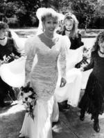 Michael Chamberlain's second wife, Ingrid Chamberlain. on her wedding day.