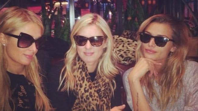 Famous friends ... an Instagram photo of sisters Paris and Nicky Hilton with Australian model Cheyenne Tozzi. Picture: Instagram