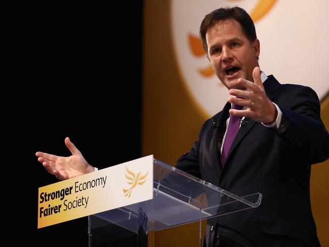 Nick Clegg on the hustings in 2013 in Glasgow. Picture: Dan Kitwood/Getty Images