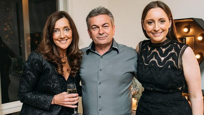 Ms Ristevski with her husband Borce Ristevski and daughter Sarah. Picture: Supplied