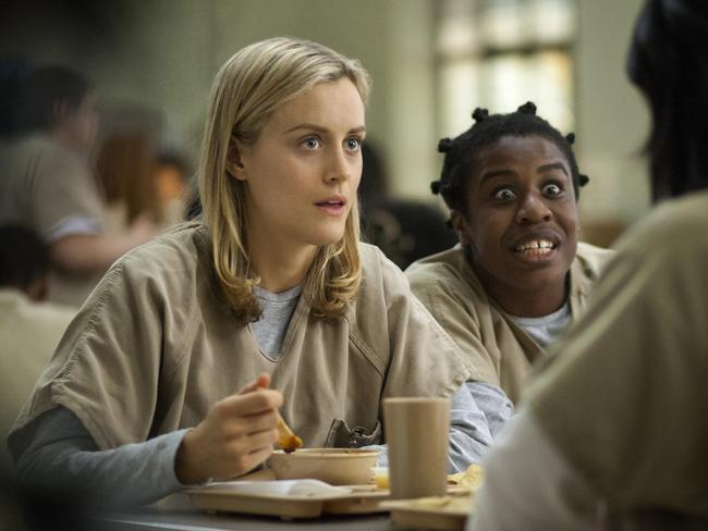 What might have been ... Taylor Schilling, left, and Uzo Aduba in a scene from 'Orange Is the New Black'. Picture: Paul Schiraldi