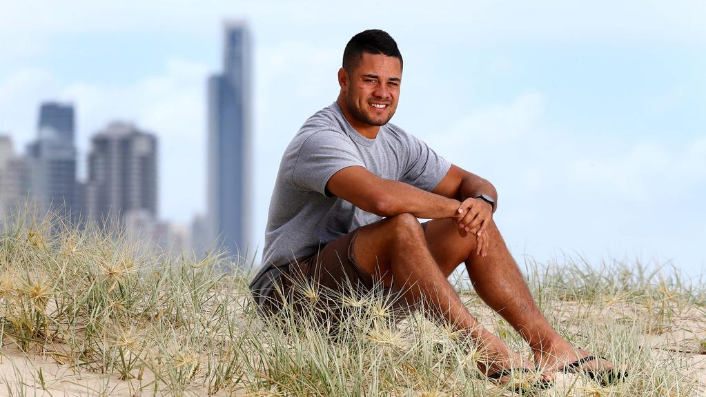 Jarryd Hayne settling in to his new base on the Gold Coast. Pic: Adam Head
