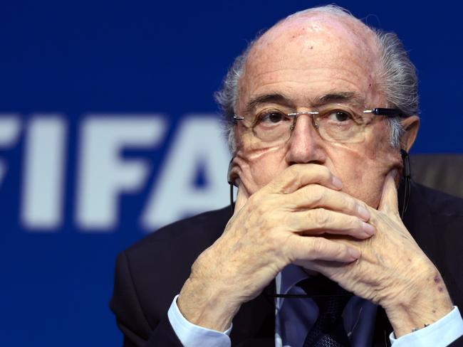 FIFA president Sepp Blatter had an eventful year after being suspended over corruption allegations.