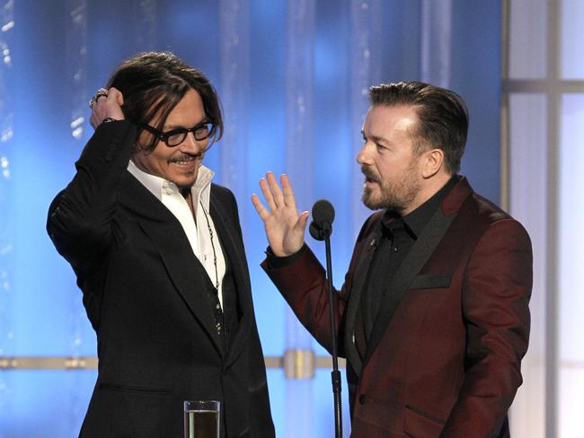 Ricky Gervais has hosted the Golden Globes three times.