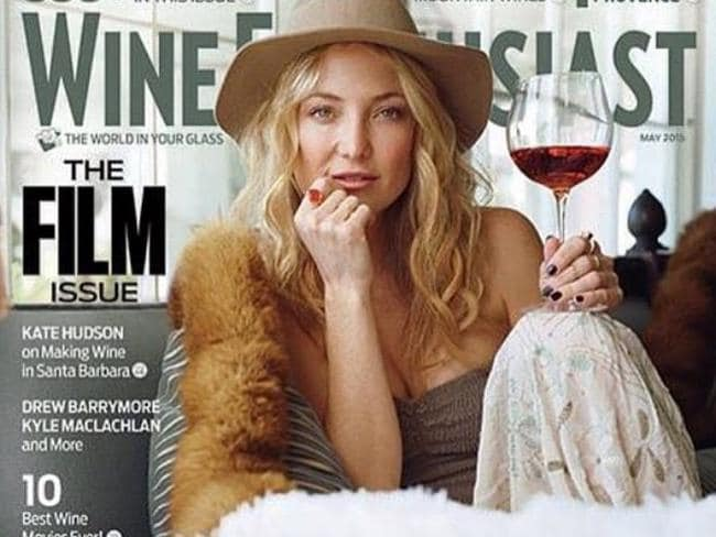Kate Hudson loves her wine.