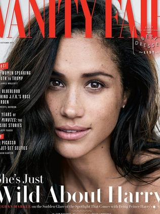 Meghan Markle opened up about the couple's relationship in last month's  <i>Vanity Fair</i>. Picture: Vanity Fair