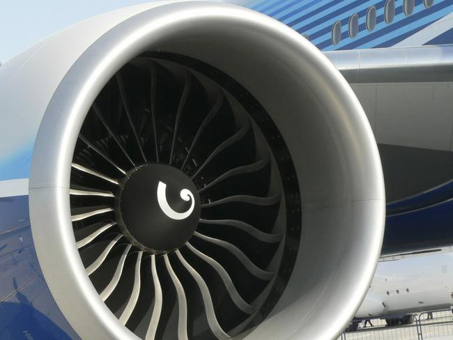 A Boeing engine.