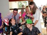 The Duchess of Cambridge talks to patients at Bear Cottage, Manly