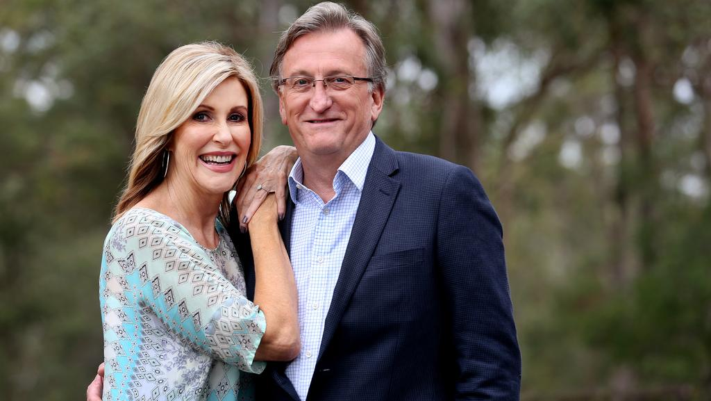 Kay McGrath with her partner Richard Moore