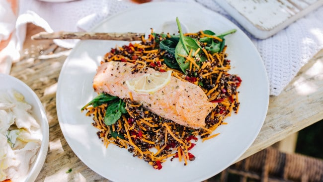 Say yes to bulk salmon. Image: Eat Fit Food
