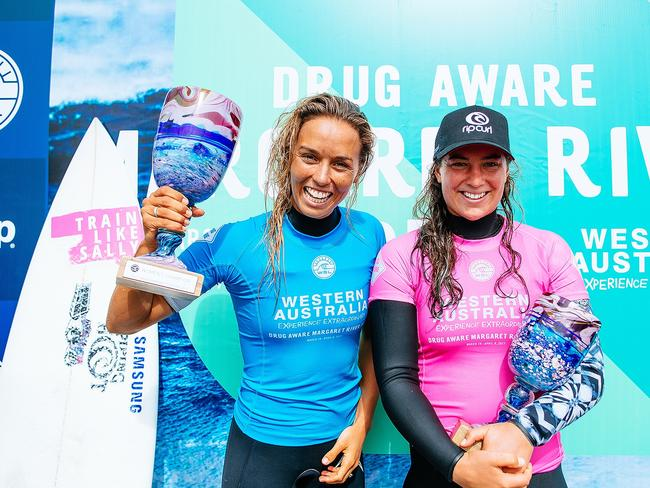 Sally Fitzgibbons beat world champion Tyler Wright at the last world tour event.