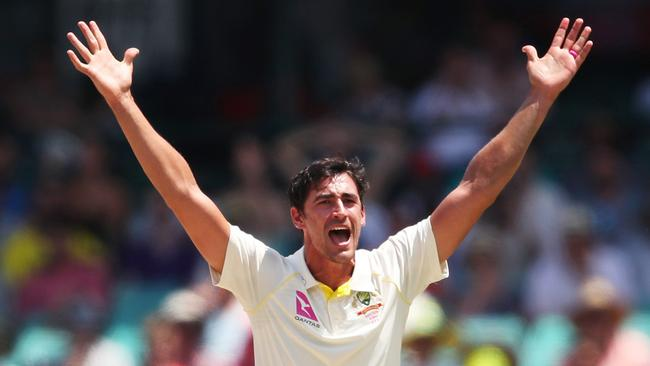 Mitchell Starc is set to combat the slow Durban wicket with swing. Picture: Phil Hillyard