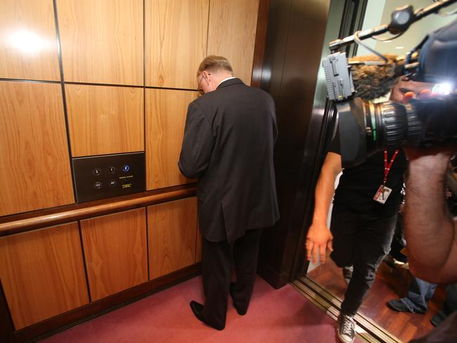 Queensland Senator Ian MacDonald admitted he did not read the report for the committee he was chairing where Gillian Triggs was being questioned. Picture: Gary Ramage