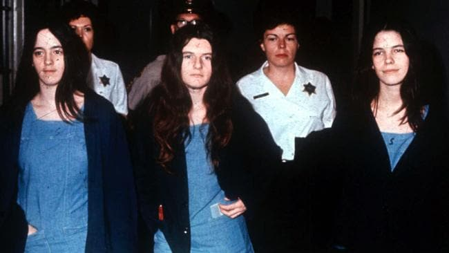 Three of Manson's followers — Susan Atkins, Patricia Krenwinkel, and Leslie Van Houten. The three women co-defendants of Charles Manson were convicted with him for the Tate-La Bianca murders.