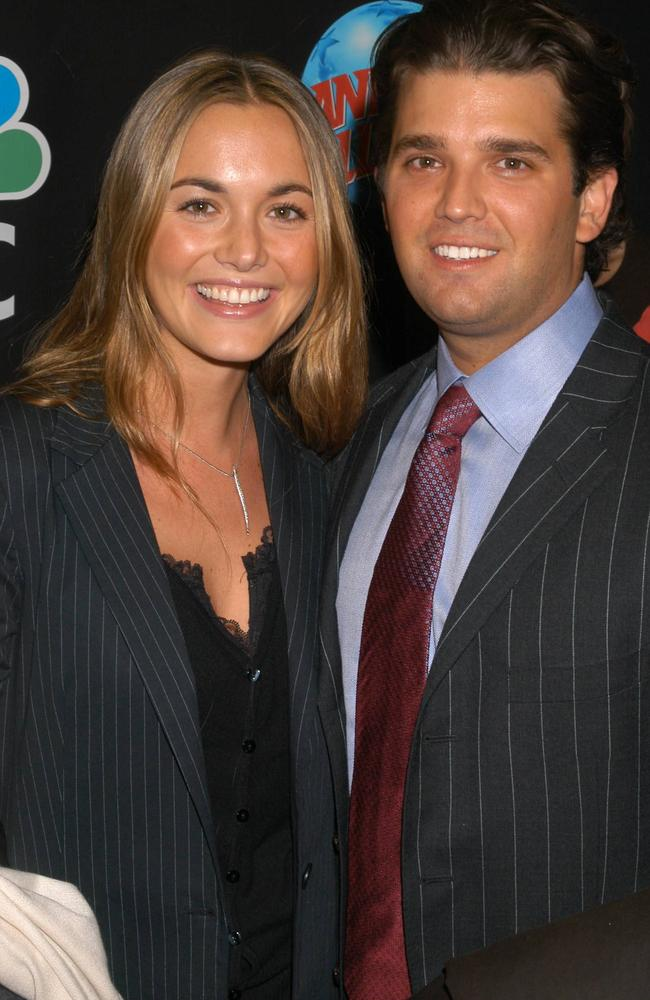 Donald Trump Jr. and then girlfriend Vanessa Haydon at a 2004 party to celebrate Donald Trump Sr's hit show The Apprentice. Picture: Splash News