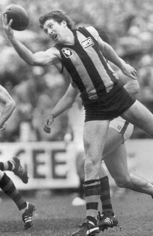 Hawk Chris Mew produced his best in big games. Picture: Herald Sun File