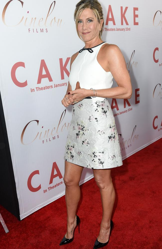 Aniston at the 'Cake' premiere in Los Angeles, America. Picture:  <i>Splash News</i>.