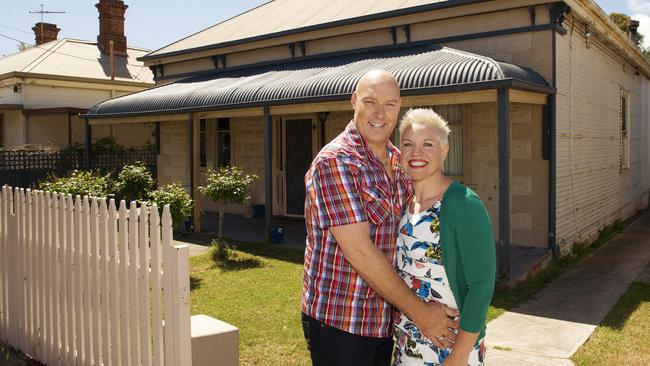 House Rules couple ... Bomber and Mel in front of their home which is featured on the Channel 7 show.