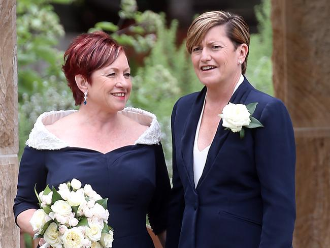 Christine Forster and Virginia Edwards were married in Sydney. Picture: Diimex