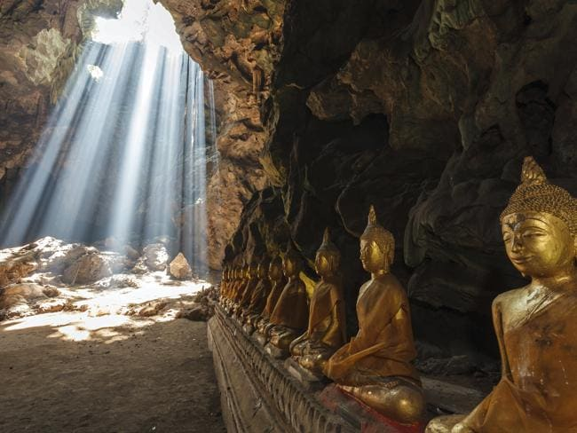 A breathtaking unidentified Buddhist cave in Thailand. Picture: Thinkstock