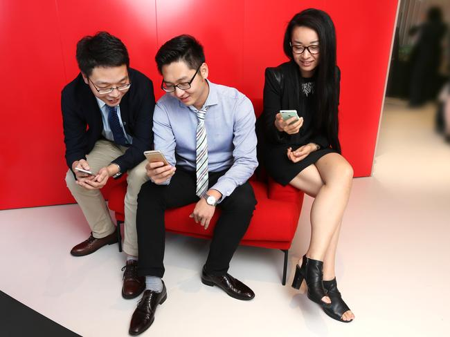 Members of Tencent in Brisbane for a tech event.
